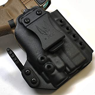 Werkz M6 Modular Holster for Glock 19 / 19x / 23/32 / 45 Gen 3/4/5 with Streamlight TLR-8, Right, Solid Black