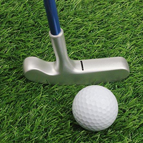 Crestgolf Kids Junior Zink-Legierung Graphit Golf Putter, Golf Club Junior Double Way Bullseye, geeignet für Rechts- und Linkshänder -27 Zoll/blau
