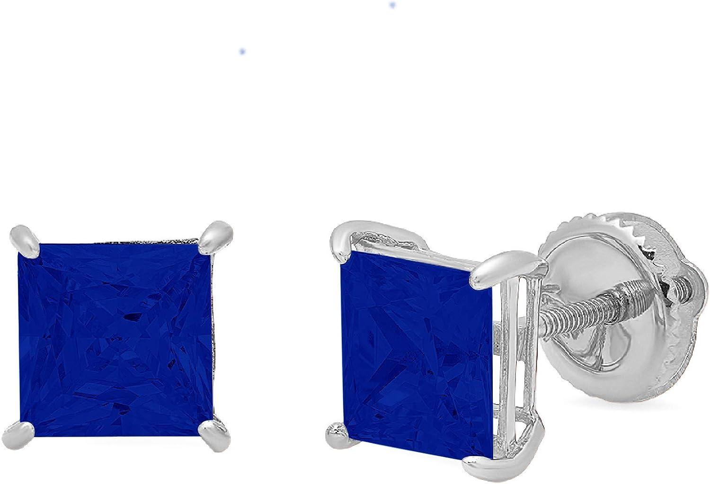 1.0 ct Brilliant Princess Cut Outlet sale feature Flawless Solitaire Price reduction Simu Genuine CZ