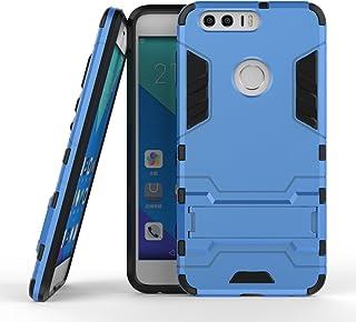 保護フォンケース 実用 Huawei Honor 8 OnePlus 3 LG X電源New 2 in 1 Iron ArmorタフスタイルハイブリッドデュアルレイヤーアーマーディフェンダーPCハードケーススタンド付き[耐震性ケース] (Color : 青黒, Size : OnePlus 3)