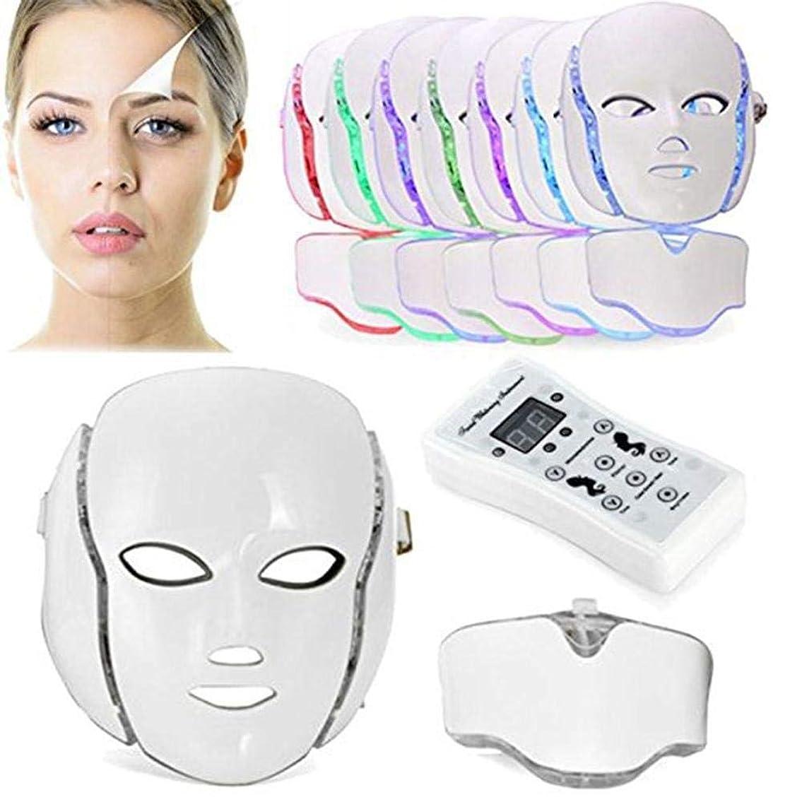音声タイトルレトルト7色PDT光子LEDの顔のマスクの皮の若返りのしわの取り外しの電気反老化LEDのマスクのアクネ、しわの取り外しのきつく締まること及び白くなること