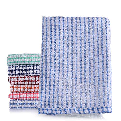 MXMA 42 x 62 cm absorbente paño de lavado suministros de cocina trapo toalla de algodón toalla de mano paños de limpieza paños de té (azul)