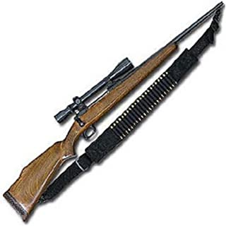 Hunting Rifle Sling with 15 Round Ammo Loops - Made in USA - Fits Ruger, Remington & All Popular Hunting Rifles