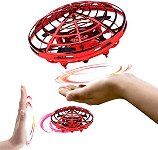 infinitoo Mini UFO Flying Ball Toys, Hand-Controlled Drone With 5 Infrared Sensors 360°Rotating and Flashing LED Lights Ki...