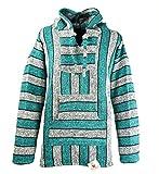 Funny Guy Mugs Premium Baja Hoodie Sweatshirt Pullover Jerga Poncho (Green Hornet, Small)