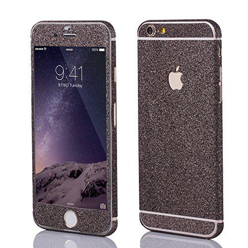 OKCS Sticker Apple iPhone 6, 6s Skin Glitzerfolie Folie Schutzfolie Slim Sticker Film - Black Mozart