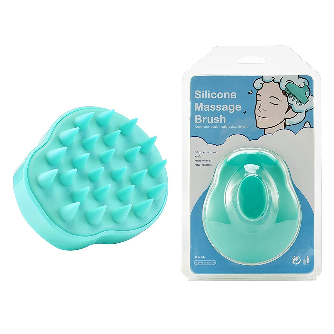 Hair Scalp Massager, Hair Shampoo Brush with Soft Silicone Brush