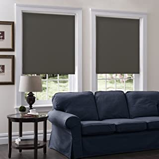 Cordless Roller Shades, Any Size 19-96 Wide, 47W x 96H, Serena Light Filtering/Room Darkening Chocolate