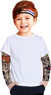 Coralup Toddler Boys Cotton Shirt with Tattoo Sleeve Fashion Tops