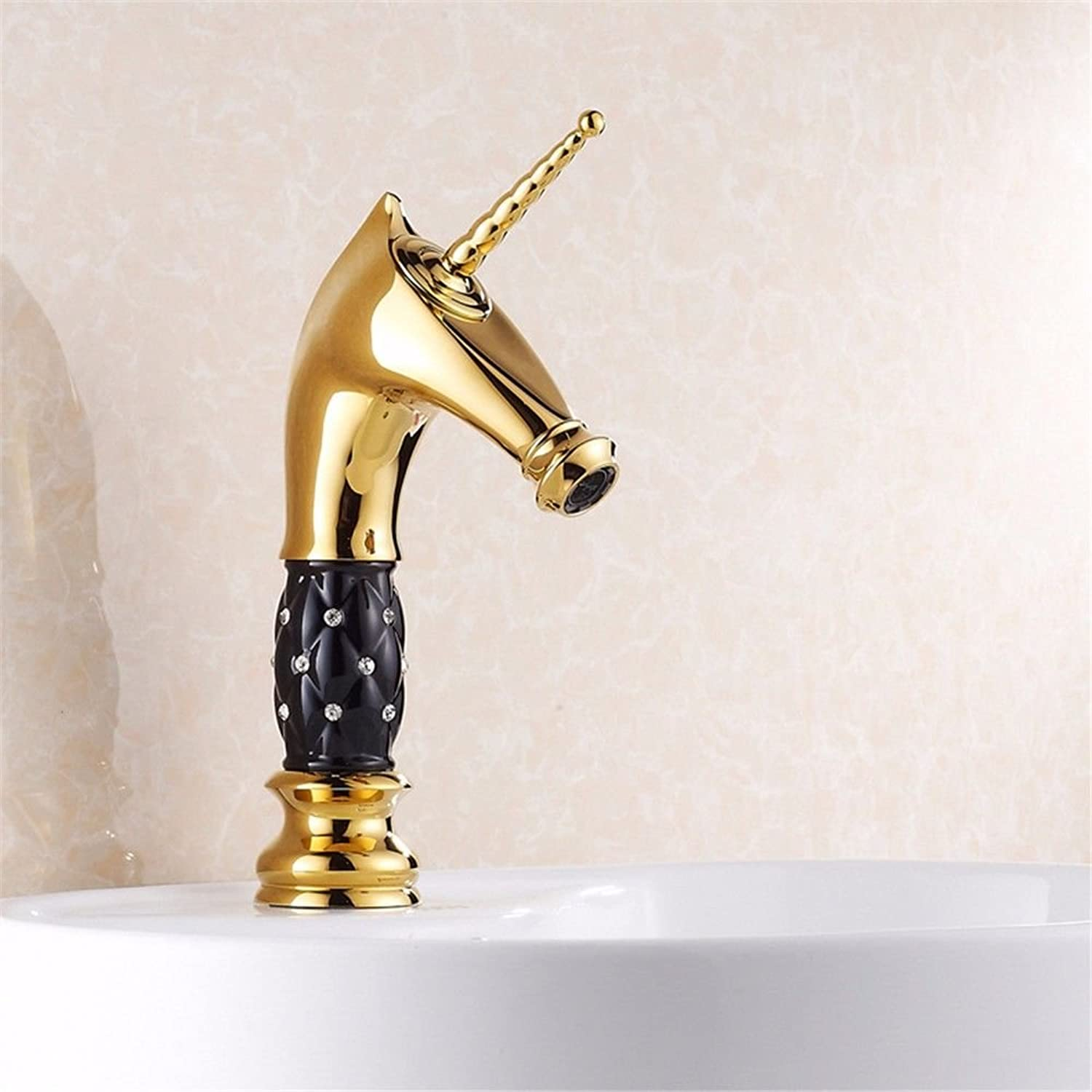Lalaky Taps Faucet Kitchen Mixer Sink Waterfall Bathroom Mixer Basin Mixer Tap for Kitchen Bathroom and Washroom gold Plated