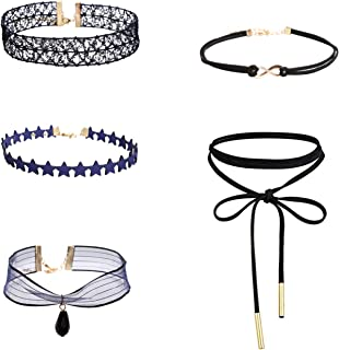 Womens Black Velvet Choker Necklace for Women Lace Choker Tattoo Necklace SJ3000F