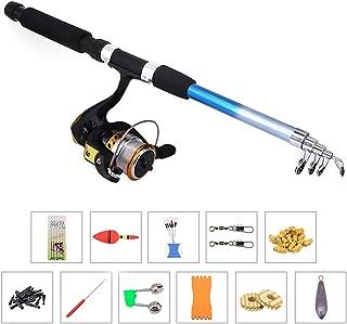 Lixada Fishing Tackle Set Fishing Reel Rod Combo Fishing Pole Spinning Reel Set with Fishing Accessories