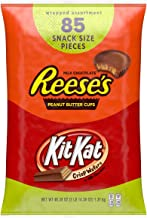 Reese's and Kit Kat Halloween Assorted Milk Chocolate, Snack Size Candy, 85 Pieces