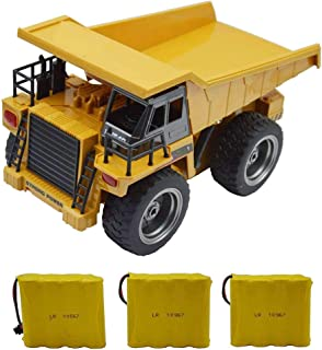 Blomiky 1:18 540 6Ch 2.4G Remote Control Dump Truck 4 Wheel Driver Mine Engineer Construction Vehicle RC Cars Toy Extra 2 Battery 1540 Dump Car