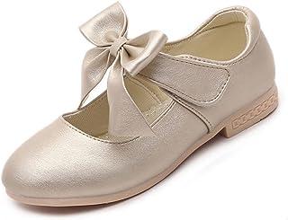 Gaorui Girls' Ballet Flats Princess Shoes Flower Dress Shoes School Uniform Mary Jane Shoe