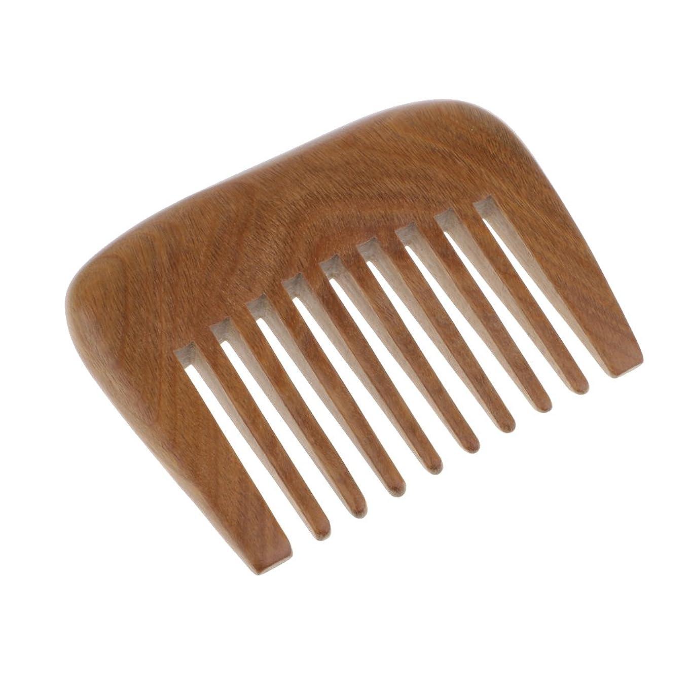 流暢に対応形状木の櫛ひげの櫛の広い歯の櫛のハンドメイドのビャクダンのポケット櫛