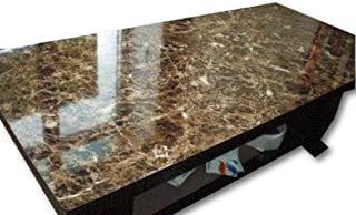 EZ FAUX DÉCOR Self-Adhesive Dark Emperador Marble/Granite realistic look counter top instant update Contact Paper 36 inches x 180 inches
