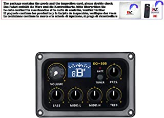 EQ-505 Digital 5 Band EQ Electric Acoustic Guitar Pickup Pick ups Preamp Tuner with LCD Display Guitar Accessories