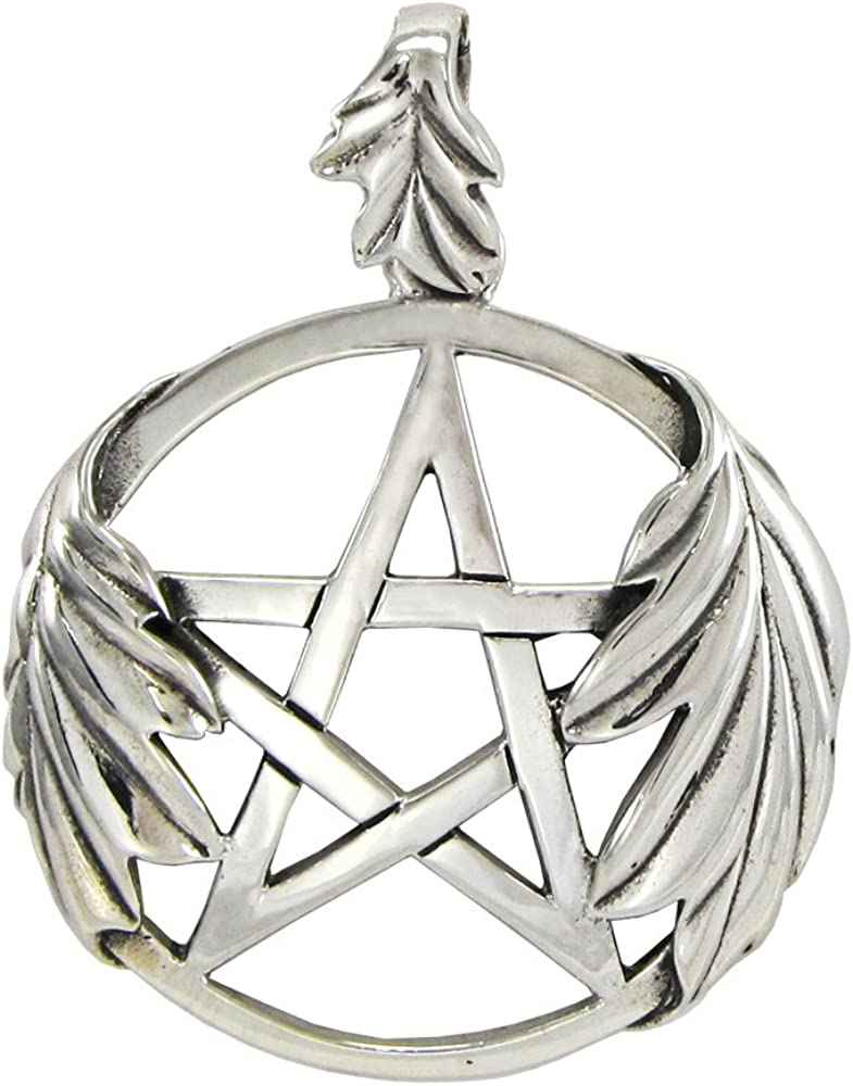 Sterling Silver Oak Special Campaign Tree Leaf Pendant Pentacle Max 52% OFF