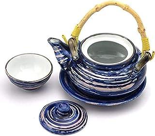 HZYDD Set Fer Thé Fonte Ensembles Céramique Porcelaine ese-céramique de Style Art de la Table Fruits de mer marmite à Soup...