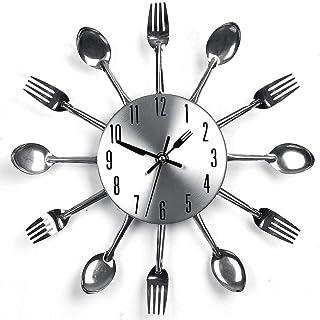 Fiona - Reloj de Pared con Cuchillo y Tenedor en 3D, extraíble, Moderno, Creativo, Moderno, Creativo, para Cocina, Cuchara, Tenedor, Reloj de Pared para decoración del hogar, por Fiona