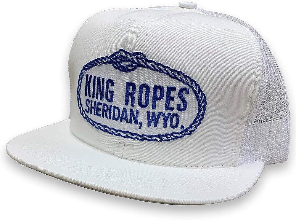 Kings Saddlery King Ropes 6-Panel Mesh Back Adjustable Snapback Trucker Hat (White/White)