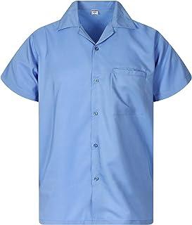 V.H.O Funky Hawaiian Shirt Men Short-Sleeve Front-Pocket Blanc Casual Multiple Colors