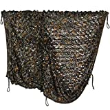 iunio Hunting Blind, Camo Netting, Camouflage Net, Bulk Roll, Mesh, Cover for Sun Shade, Camping, Outdoor (Green Brown Tree Camo, 9.8ftx6.5ft/3mx2m)