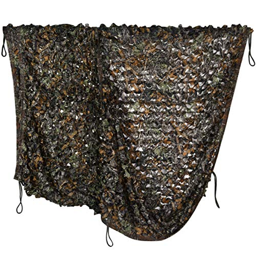 iunio Camouflage Netting, Camo Net, Blinds for Sunshade, Camping, Shooting, Hunting, Decoration (Green Brown Tree Camo, 16.4ftx5ft 5mx1.5m)