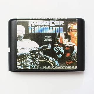 Robocop Versus Terminator 16 Bit Md Game Card For Sega Mega Drive For Genesis PAL