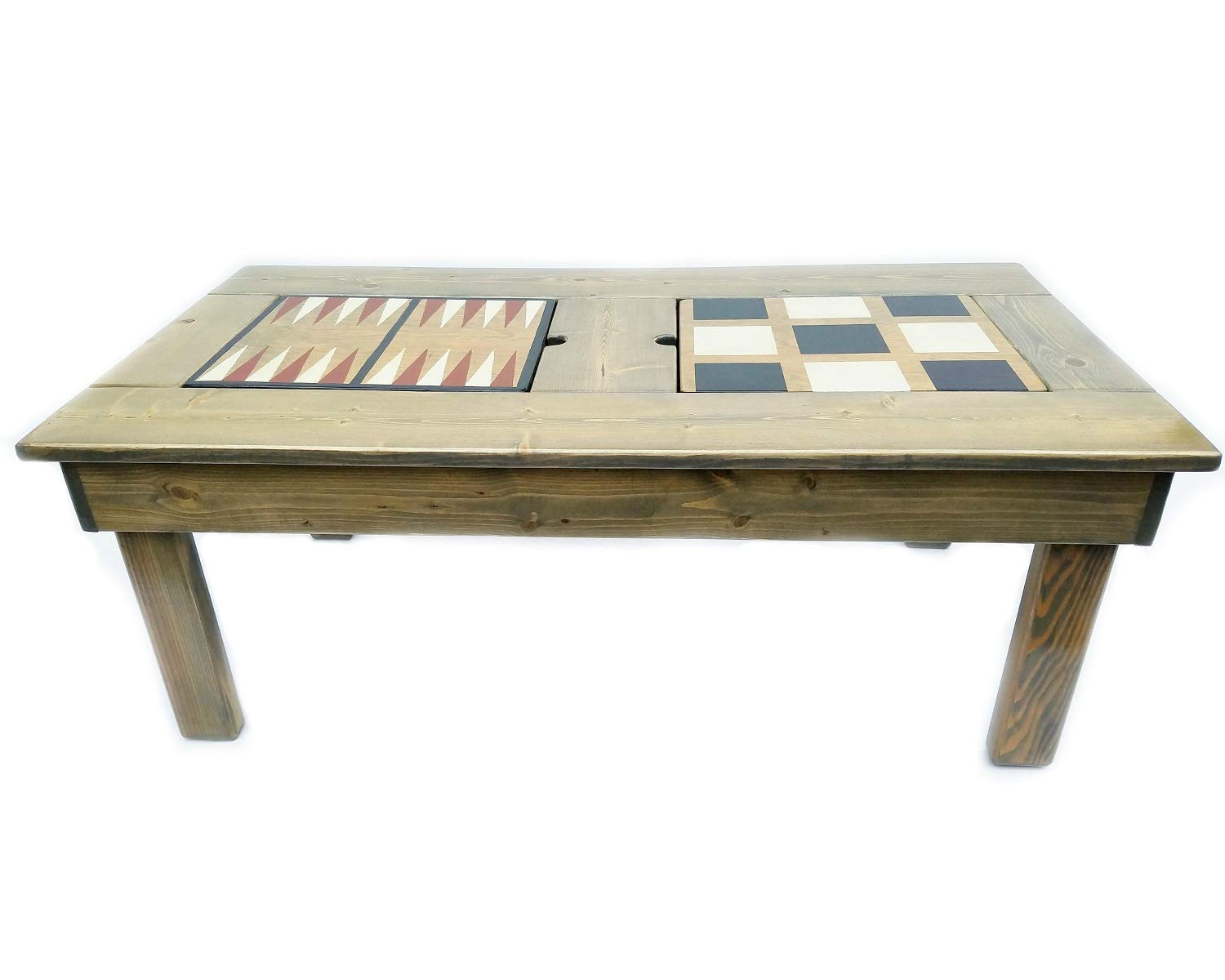 SALENEW very popular Coffee Table Wood Game Features 4 Popular standard Games