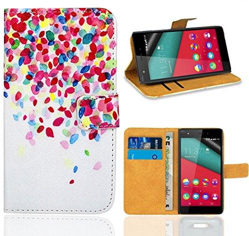 FoneExpert® Wiko Pulp 4G Handy Tasche, Wallet Hülle Flip Cover Hüllen Etui Ledertasche Lederhülle Premium Schutzhülle für Wiko Pulp 4G