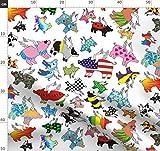 Fliegend, Schweine, Verspielt, Tiere, Flügel Stoffe -
