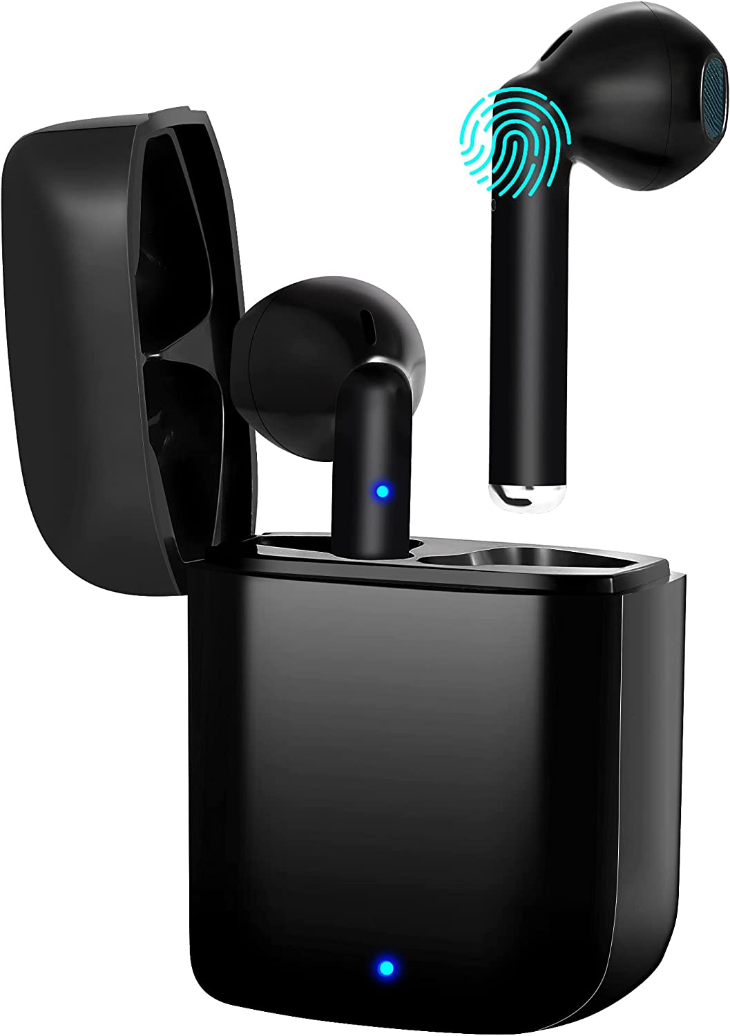 Wireless Earbuds,Bluetooth 5.2 Earphones,True Wireless Bluetooth Earbuds,IPX7 Earbuds,with Fast Charging Box,Suitable for Sports and Work (Black)