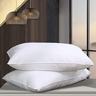Cosydown Goose Down Alternative Pillows (2 Pack,Queen Soft) 100% Egyptian Cotton with Microfiber Filling Sleep Pillow,Washable,Hypoallergenic