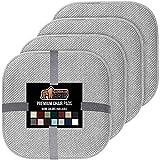 Gorilla Grip Original Premium Memory Foam Chair Cushions, 4 Pack, 16x16 Inch, Thick