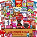 Valentine's Day Care Package (45ct) - Snacks, Chocolates, Candy Gift Box - Assortment Variety Bundle Present for Boy, Girl, Friend, Student, College, Child, Husband, Wife, Boyfriend, Girlfriend, Love