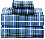 Ruvanti 100% Cotton 4 Piece Flannel Sheets Full - Deep Pocket - Warm - Super Soft - Breathable Full Size Flannel Sheets Set. Flannel Bed Set Include Flat Sheet, Fitted Sheet & 2 Pillowcases (Full)