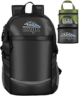 40L Packable Travel Hiking Backpack,Multipurpose Daypacks with Wet Pocket,Waterproof Daily Backpack for Men Women Camping Outdoor Activity Sports Black
