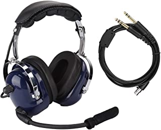 Aviation headset, algemene aviation headset, pilotenhoofdtelefoon met twee stekkers, 3,5 mm headset voor ruisonderdrukking...