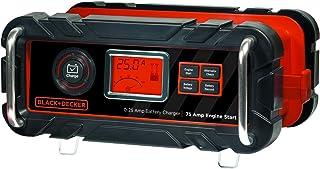 Black + Decker BC15BD Cargador de batería de banco de 15 A con arranque del motor de 40 A y comprobación del alternador, Negro