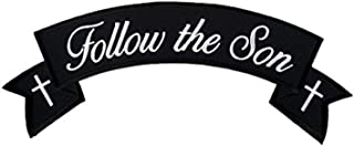 Hot Leathers, FOLLOW THE SON CHRISTIAN BIKER BANNER ROCKER, Iron-On / Saw-On Rayon PATCH - 4