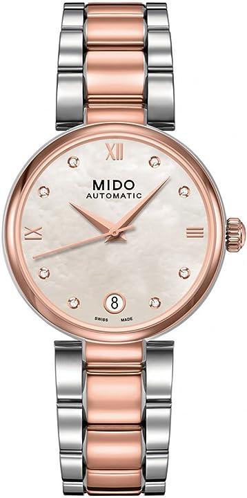Orologio donna da polso mido analogico automatico in acciaio inox m0222072211610