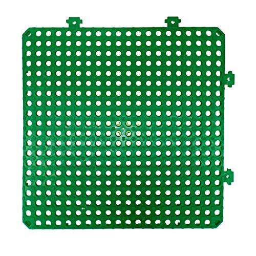 Pamex LOSETA Desmontable PLATAKI 30X30 CM - 12 Unidades +1M² Metro Cuadrado (Verde)