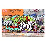 Bilderwelten Fotomural - Graffiti Wall - Mural apaisado papel pintado fotomurales murales pared papel para pared foto 3D mural pared barato decorativo, Dimensión Alto x Ancho: 190cm x 288cm