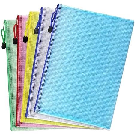 A4 Pochette Document, 5pcs Sac à Fermeture éClaire Pour Le Stockage De Documents Et à D'Autres Fins