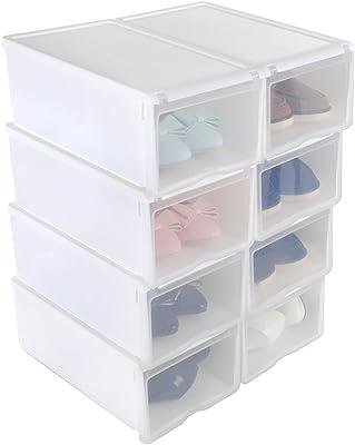 Organizador de 10 cajas de plástico apilables, de la marca ...