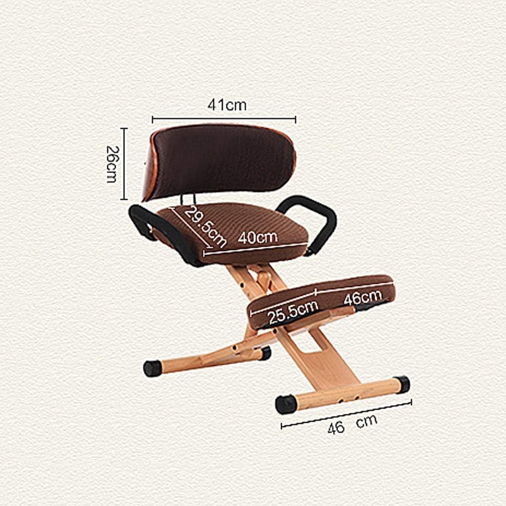 XLGJCWQY Chaises ergonomiques à Genoux réglables en 4 Couleurs Tabouret de Genou orthopédique avec Dossier, avec poignée (Couleur: Bleu) Blue