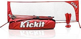 Kickit Sport-Pack | A Game Where Soccer Meets Badminton | Portable Net & KickIt Shuttlecock |