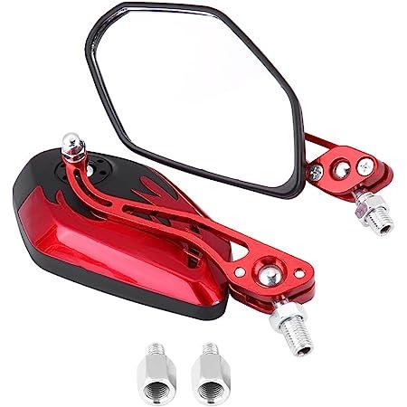 Keyfobworld Chrom Skelett Universal Scooter Atv Motorrad Schädel Spiegel 8 Mm Or10 Mm Neu Rot Auto